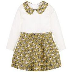 Hucklebones Girls Two Piece Set Ivory and Gold. Such a unique, stand out from the crowd outfit. Perfect for weddings, parties or for no reason other than its amazing.