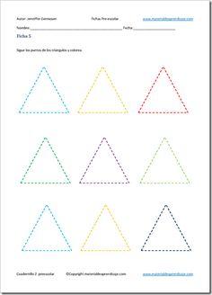 Resultado de imagen de trazo del triangulo para niños