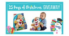 25 Days of Christmas Giveaway! Fisher-Price Laugh & Learn Love Puppy! - http://excusememom.com/25-days-of-christmas-giveaway-fisher-price-laugh-learn-love-puppy/?Excuse+Me+Mom