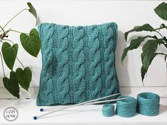 Blue knitted pillow Cable knit pillows Blue Dorm decor knitting pillow Rustic home decor Chunky knit pillow Decorative Pastel blue pillow WELCOME! Find all my knitted pillows here: http://etsy.me/2f8P818 This handmade knitted pillow will be the perfect piece for your bedroom or living