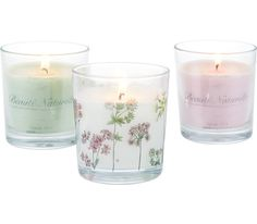 Kerze im Glas in verschiedenen Farben erhältlich. D/H: ca. 9,6/11cm.