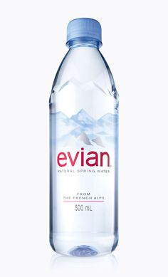 Evian Debuts New Bottle - The Dieline -