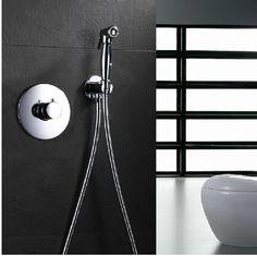67.89$ Buy here - http://alijqf.worldwells.pw/go.php?t=2041422004 - luxury wall mounted Brass chrome Women Handheld Bidet Shower set /Portable bidet with brass shower holder and 1.5m hose 67.89$