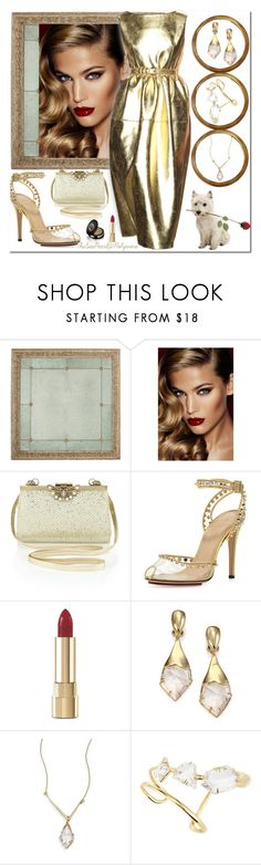 """""""Liquid Gold"""" by theseapearl ❤ liked on Polyvore featuring Charlotte Tilbury, Antonio Marras, Monsoon, Charlotte Olympia, Dolce&Gabbana, Alexis Bittar, Gucci and Charlottetilbury"""
