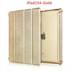 Nice quality 3 fold+supper slim+transparent back+ nice pu leather material magnetic smart case for ipad 2 3 4 cover thin clear
