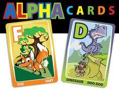 ABC Flash Cards for boys! by Susan Levy, via Kickstarter.