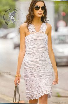 crochet charming dress for ladies, crochet pattern | make handmade, crochet, craft