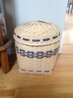 Hamper with lid, class in Princeton, NJ