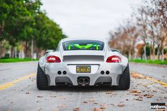 This custom widebody Porsche Cayman is truly insane!