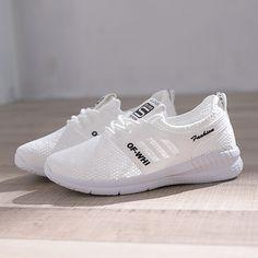 buy popular 60dcc b2c56 Breathable Women Walking Shoes Air inside Ladies Sports Shoes Lightweight  Fitness baskets sport femme Flexible White