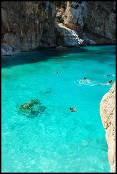 L'azzurro di Cala Mariolu (Blue Mariolu) is one of the best secluded beaches of the eastern coast of Sardinia. You can reach it only by boat, from Arbatax or Cala Gonone. The color of the sea speaks for itself. // photo by Sergio Canobbio (this is one for my bucket list)