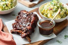 Spareribs in kersencola-marinade Bbq Grill, Barbecue, Grilling, Chef Jobs, Tasty, Yummy Food, Spare Ribs, Falafel, Ketchup