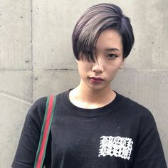 Image may contain: one or more people Short Hair Undercut, Undercut Women, Undercut Hairstyles, Asian Bangs, Asian Short Hair, Pixie Styles, Short Hair Styles, Cut And Style, Cool Style