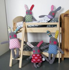 bunnies Softies, Plushies, Sewing Projects, Projects To Try, Tilda Toy, Sewing Dolls, Jouer, Cute Dolls, Pin Cushions