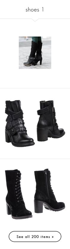 """""""shoes 1"""" by hellhoundcruz ❤ liked on Polyvore featuring shoes, boots, heels, footware, black knee high heel boots, knee high platform boots, knee high buckle boots, platform heel boots, high heel boots and ankle booties"""