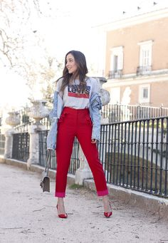 Red Trousers For This Spring