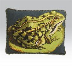 Lily Pad Frog - Strik og broderi - garn, kits og designs i Sommerfuglen