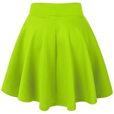 MBJ Womens Basic Versatile Stretchy Flared Skater Skirt ($12) ❤ liked on Polyvore featuring skirts, green circle skirt, flared skirt, flared hem skirt, flare skirts and circle skirts