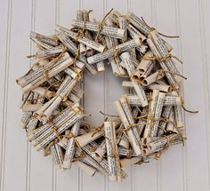 book page scroll wreath