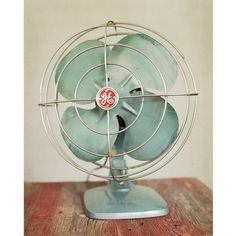 At The Cabin, No. 1 - 8x10 Fine Art Photograph - Vintage Teal Fan