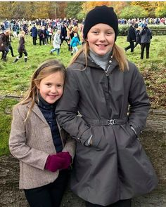On November 5, 2017, Sunday, in the morning, Crown Princess Mary of Denmark and her children, that is, Prince Christian, Princess Isabella, Prince Vincent and Princess Josephine watched traditional 2017 Hubertus Hunt (Hubertus Jagt) from the balcony of Hermitage Palace, held at Dyrehaven hunting field of Klampenborg city of Denmark.