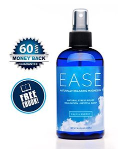 Activation Products Ease Magnesium Spray - Pure Magnesium for Joint and Muscle Pain, Leg Cramp Relief - Sleep Supplement for Restless Leg Syndrome Relief - Includes eBook, / 8 Fl. Cramp Relief Leg, Pain Relief, Topical Magnesium, Magnesium Chloride, Magnesium Oil Spray, Brain Nutrition, Ways To Stay Healthy, Healthy Tips, Sleep Supplements