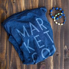 The world's comfiest tee meets a few of our bracelets from Uganda.  #marketcolors