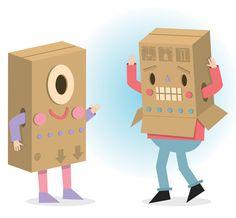 Aaron Miller. Quirky character designs.