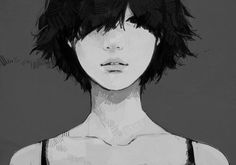 Tae4021 - Anime, Gray Background