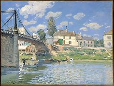 Alfred Sisley (British, 1839–1899). The Bridge at Villeneuve-la-Garenne, 1872. The Metropolitan Museum of Art, New York. Gift of Mr. and Mrs. Henry Ittleson Jr., 1964 (64.287)