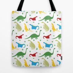 Dinosaur Parade Tote Bag by Doris & Fred - $22.00