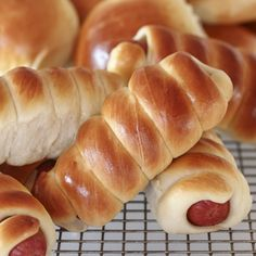 A Yummy pastry wrapped hot dogs recipe, This is a great afternoon snack.. Pastry Wrapped Hotdogs Recipe from Grandmothers Kitchen.
