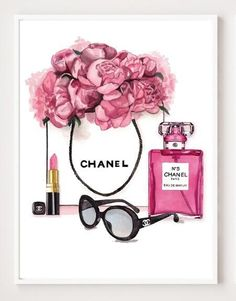 Modern Fashion Salon Art Home Inspired By Coco Chanel Perfume Fine Art Canvas Prints For Girls Bedroom Living Room Modern Home Decoration Chanel Wall Art, Chanel Decor, Chanel Wallpapers, Cute Wallpapers, Mode Poster, Image Deco, Photo Deco, Salon Art, Bottle Wall