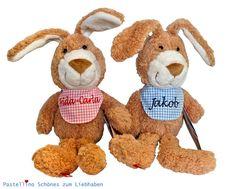 Stofftier Kaninchen Schmusetuch Kuscheltier Stoffpuppe Knuddeltier für Kinder