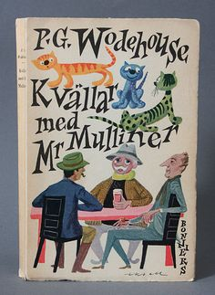 P.G. Wodehouse Book cover by Olle Eksell