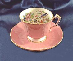 Aynsley Pembroke Bird Teacup And Saucer, Pattern Number Vintage Aynsley China Vintage Cups, Vintage Wood, Wood Owls, Trinket Boxes, Cup And Saucer, Valentine Gifts, Tea Pots, My Etsy Shop, Teacup