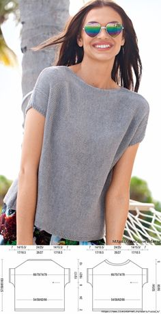 Knitted top for women # crochet # crochet addic . Knit top for women # häkelnaddict - Always aspired to be able to knit, however undecided w. Knitting Blogs, Knitting Designs, Knitting Machine Patterns, Knitting Patterns, Summer Knitting, Crochet Summer, Knitwear, Knit Crochet, Sweaters