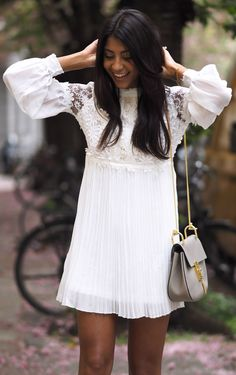 Pleats And Lace Romantic Style