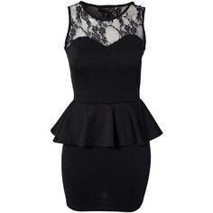 Club L Candy Lace Peplum Dress ($35) ❤ liked on Polyvore