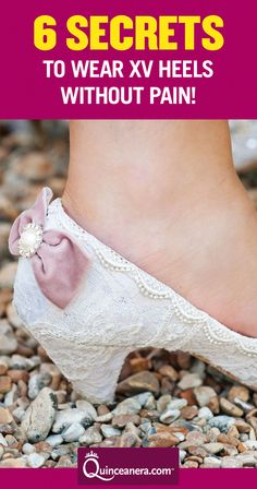 You won't have to worry about uncomfortable quinceanera heels after following our tips! | quinceanera heels | heels shoes |