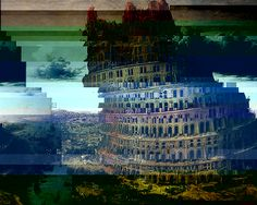 What Bruegel's Tower of Babel might look like, seen through the Glitch Browser