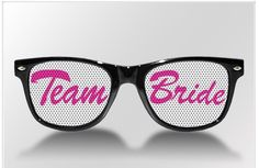 Fun wedding favors -bachelorette party ideas -sunglasses or plain-the more you order -cheaper they are.  I sell on Etsy.com -Sunglasses Wedding.