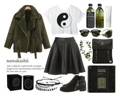 """""""lean on"""" by aaalexg ❤ liked on Polyvore featuring CC, Herschel Supply Co., Topshop, Retrò, Ray-Ban, Diptyque, Laura Mercier, Pura Vida, women's clothing and women's fashion"""