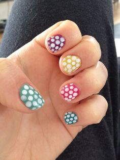 Cute dotted nail art