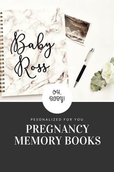 Monochrome pregnancy journal and keepsake. Perfect gift for any expecting mom. Free personalization and tons of cover options available. Pregnancy Planner, Pregnancy Journal, Pregnancy Tips, Pregnancy Announcements, Pregnancy Quotes, All About Pregnancy, Pregnancy Information, Pregnant Diet, Preparing For Baby