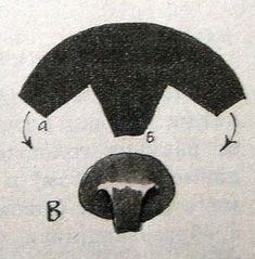 nose pattern for bear from leather