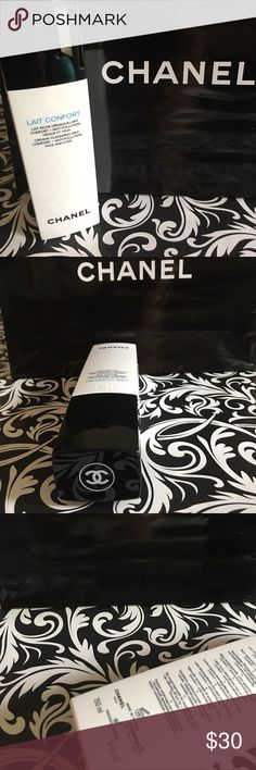 Chanel Lait Confort cleansing milk hydra beauty Creamy cleansing milk comfort with anti-pollution face and eyes. Ultra gentle cleanser and make up remover for a drive or sensitive skin brand-new full-size authentic Chanel Makeup
