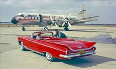 A 1959 Buick Electra--the plane in the background is a Lockheed Electra!