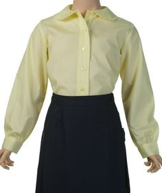 French Toast Long Sleeve Peter Pan Blouse (Sizes 7-20) - yellow, 18 French Toast. $7.99