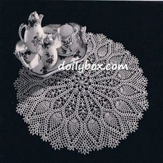 large doily free pattern 20 inches wide  very easy to follow